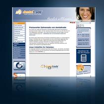 Webseite dentaltrade: www.dentaltrade.de