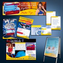 Sonnenstudio Krause: Werbebanner, Postkarten, Mailings, Anzeigen, Schilder etc.