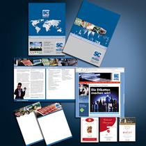 SC-Etiketten: Präsentationsmappe, Broschüren, Mailings, Internetseite, Weinetiketten etc.