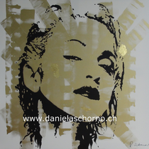 Bild von Daniela Schorno: M3 in Gold 120 x 120