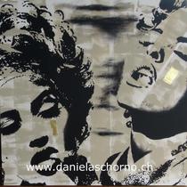 Bild von Daniela Schorno: Rauchendes Duett 100 x 100