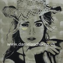 Bild von Daniela Schorno: Beauty mit Hut   100 x 100