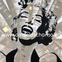 Bild von Daniela Schorno: Marilyn Monroe  120 x 120