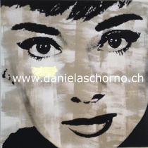 Bild von Daniela Schorno: Audrey Hepburn 50 x 50