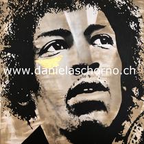 Bild von Daniela Schorno: Jimi Hendrix 70 x 70