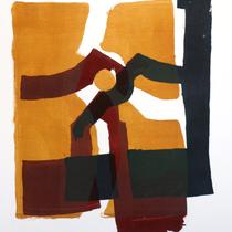 dazwischen 1, 2019, 78 x 56cm, Lithographie, Micha Hartmann, Esslingen