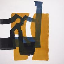 dazwischen 4, 2019, 78 x 56cm, Lithographie, Micha Hartmann, Esslingen