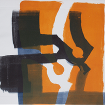dazwischen 2, 2019, 49 x 39cm, Lithographie, Micha Hartmann, Esslingen
