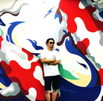 xola, art, paint, clicktech, mural, urbanart, graffiti, tokyodex, koi, japanese, painting