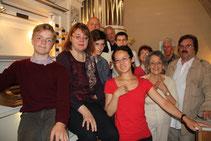 Helga et les stagiaires participants à l'audition d'orgue de l'académie (2014)