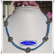 Achat-Kette mit Tensha-Perlen