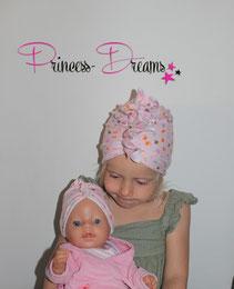 Neugeborenen Baby Mädchen Turbanmütze Mütze Rüschenmütze Mütze mit Rüschen , im Pertnerlook Mama , Puppe, Beanie, Hut, Turban, Schleifenmütze Schleife