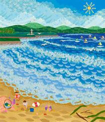 真夏の海水浴