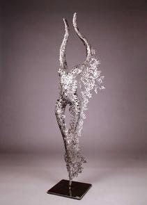 Metal sculpture torso