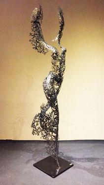 Metal torso woman