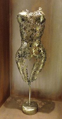 Female torso bronze