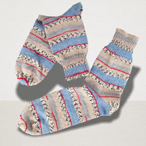 Sockenpaar Blauer Montag Junior, blaue Wolle, handgefärbtes Garn, handgefärbte Wolle