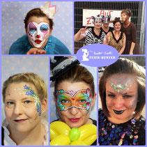 Feier-bunter, Kreativ-Events, Face-& Bodypainting