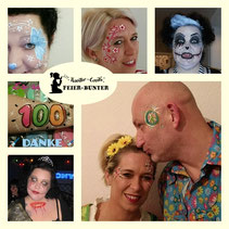 Feier-bunter, Kreativ-Events, Face-& Bodypainting