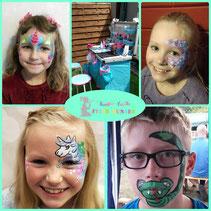 Feier-bunter Kinderschminken inden langerwehe
