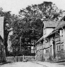Baustraße 14 (rechtes Gebäude) Postkartenausschnitt - undatiert
