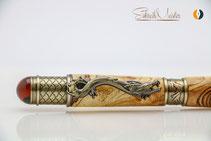 Drachen Stift aus Holz handgemacht