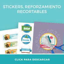 Descarga gratis para profesores set stickers reforzamiento