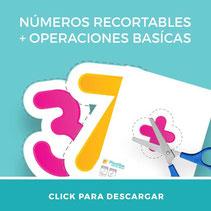 Material didáctico números recortables para descargar