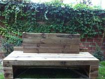 Conception d'un meuble à bois /banc /dossier jardiniére