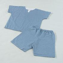 ガーゼパジャマ 半袖 ブルー