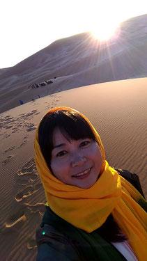 サハラ砂漠の夕日♡