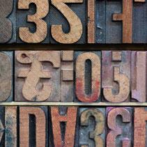Drucken mit Holzlettern