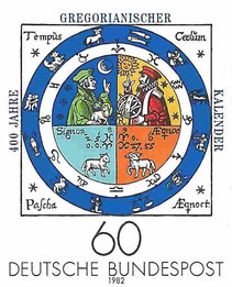 Briefmarke der deutschen Bundespost