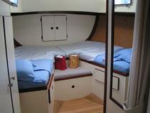 massage area on sailboard