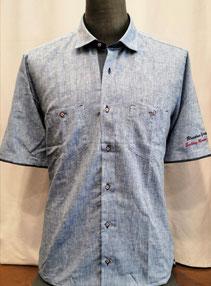 Blu Salina Orange - Camicia due tasche in lino e cotone - Vari colori