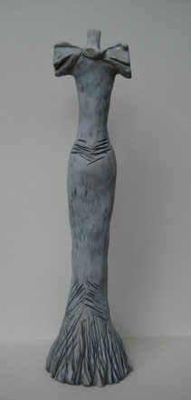 Betonte Rundungen, Ton bemalt, 50,5 cm, Rückenansicht