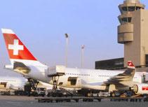 Flughafentransfer mit Taxi Fritschi Rapperswil-Jona, Flughafen Zürich Kloten