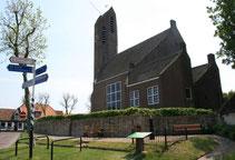 """<img src=""""image.jpg"""" alt=""""Hervormde kerk in De Waal op Texel."""">"""