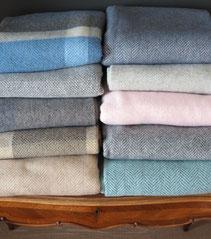 irische Wolldecken aus Cashmere oder Merinowolle