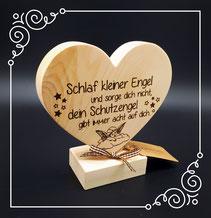 Zirben Holz Herzen als Geschenk für Hochzeit, Geburtstag oder Muttertag