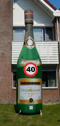 Champagnefles 4,5 m