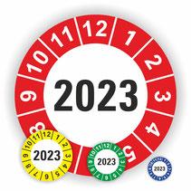 Jahresplakette Wartungsetiketten Prüfplaketten Wartung nächste Prüfung Prüftermin