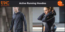 Active Performance Running Hoodies