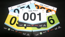 Printed Rider Number Boards