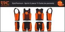 Custom 2-Piece Tri Suits SPRINT