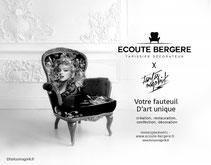 Création exclusive de fauteuil d'art signé Fantasmagorik