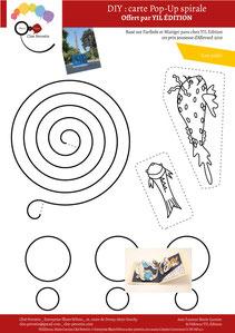 Aperçu page 3 du DIY pas à pas gratuit de l'illustratrice Cloé Perrotin pour créer une carte Pop-Up spirale