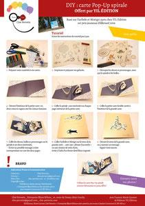 Aperçu page 2 du DIY pas à pas gratuit de l'illustratrice Cloé Perrotin pour créer une carte Pop-Up spirale