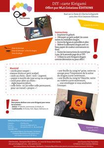 Aperçu page 1 du DIY pas à pas gratuit de l'illustratrice Cloé Perrotin pour créer une carte Kirigami dragon