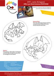 Aperçu page 3 du DIY pas à pas gratuit de l'illustratrice Cloé Perrotin pour créer une carte Kirigami dragon